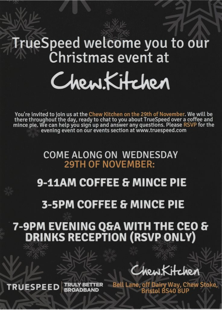TrueSpeed Charity Event 29th November 2017 at Chew Kitchen